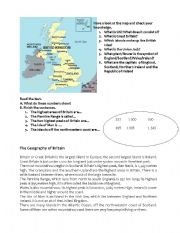 English Worksheets: The Geography of Britain