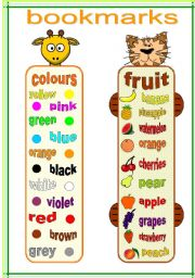English Worksheet: bookmarks and exercises 1 (18.02.12)