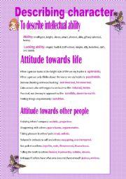 English Worksheet: Describing people�s character