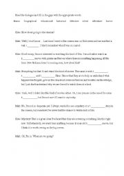 English Worksheets: movie types - fill in the gaps
