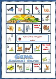 English Worksheet: Animal Farm game *editable*