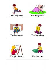 English Worksheets: Verbs and actions