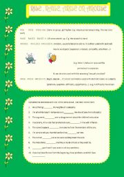 English Worksheets: rise, arise, raise and arouse
