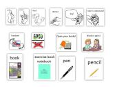 English Worksheets: Words for the first lesson