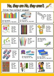 English Worksheets: Yes, they are/ No, they aren�t