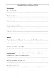 Webquest worksheet on Arthur Conan Doyle, Agatha Christie and their characters