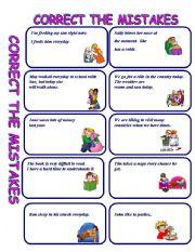 English Worksheet: CORRECT THE MISTAKE