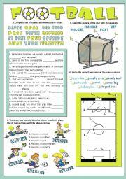 English Worksheets: FOOTBALL