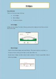 English Worksheets: Bridges- comprehension