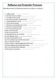 english teaching worksheets reflexive pronouns. Black Bedroom Furniture Sets. Home Design Ideas