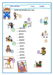 English Worksheets: Match the Pictures and the Occupations
