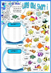 English Worksheets: short and long i
