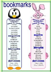 English Worksheets: bookmarks and exercises 4 (20.02.12)