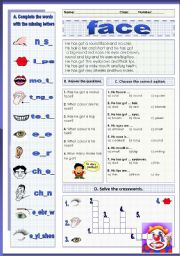 English Worksheets: face (03.01.12)