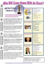 English Worksheets: Oscar Awards