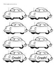 English Worksheets: Crash Cards