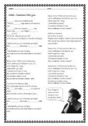 English Worksheets: Adele. Someone like you.