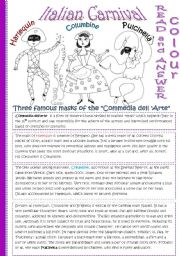 English Worksheet: ITALIAN CARNIVAL*editable*