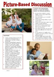English Worksheet: Picture-based discussion - Family