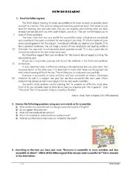 English Worksheets: How do I learn