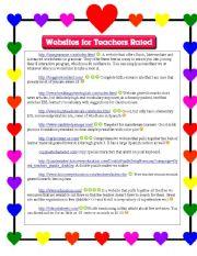 English Worksheets: ESL and Other Websites for Teachers; Described