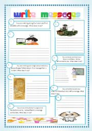 English Worksheets: WRITE MESSAGES