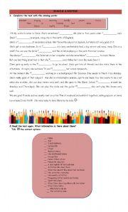 English Worksheets: Reading & Writing - PART 1