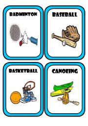 English Worksheet: Sports & Equipment