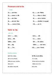 English Worksheets: Simple worksheet