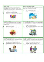 English Worksheets: Writing letters cards