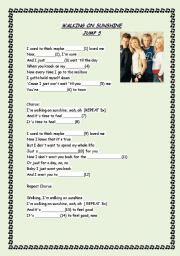 English Worksheet: Present Continuous practice through song
