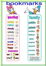 English Worksheets: bookmarks and exercises 6 (21.02.12)