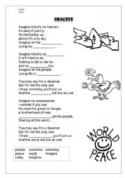 English Worksheets: imagine printable