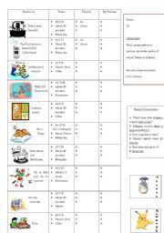 English Worksheets: Daily Habits