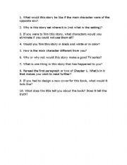 English Worksheets: Novel Questions