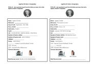 English Worksheet: Agatha Christie�s biography