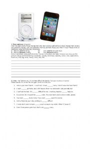 English Worksheet: brainstorming, mindmapping - to vs. too vs. enough - meanings - test