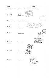 English Worksheets: sounds of A