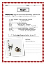 English Worksheets: Might