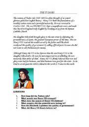 English Worksheets: The Tudors