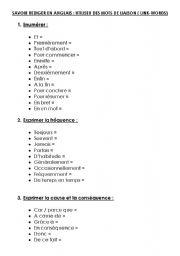 English Worksheets: link words