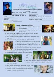 English Worksheets: NANNY McPHEE movie worksheet