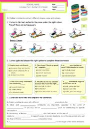 English Worksheet: Rubber Wristbands - What�s their meaning?  -  Listening test