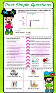 English Worksheets: Questions with did