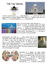 English Worksheet: The Taj Mahal - Endless Love