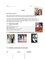 English Worksheet: Test based on THE ROYAL WEDDING of Kate and William
