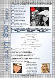 English Worksheet: LONG LIVE - TAYLOR SWIFT & PAULA FERNANDES - PART 01