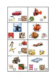 English Worksheet: I Like I don�t Like oral activity