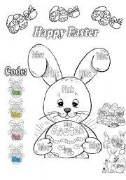 English Worksheet: Happy Easter