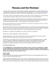 English Worksheets: Theseus and the Minotaur